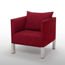 Boréal collection, armchair, Framboise (raspberry)