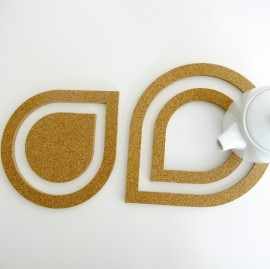 TOMA Cork Water Drops Trivets
