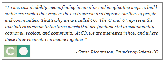 sustainability and CO