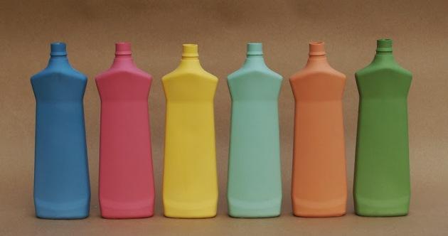 rainbow of vases