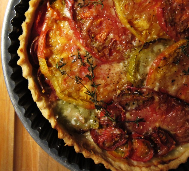 heirloom tomato tart the main mtl