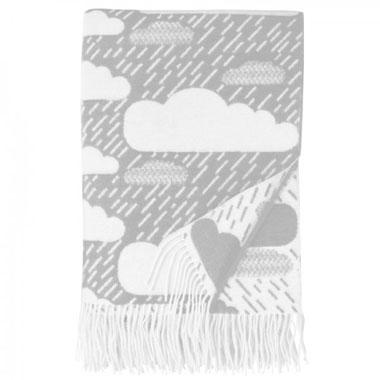 donna wilson rainy day blanket grey