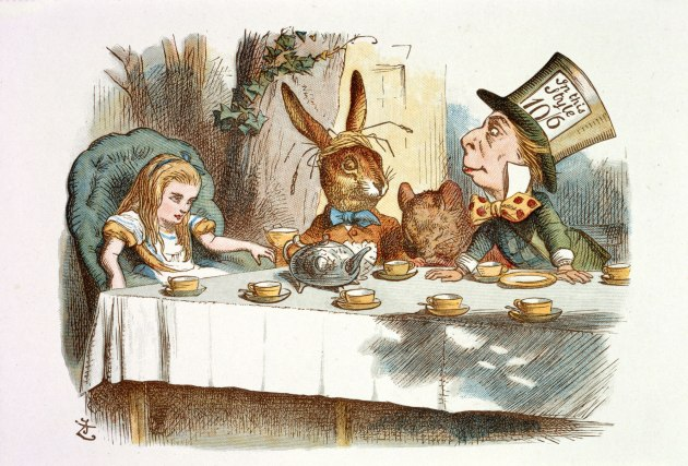 Alice in Wonderland the mad hatters tea party