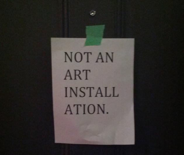 not art vs. art
